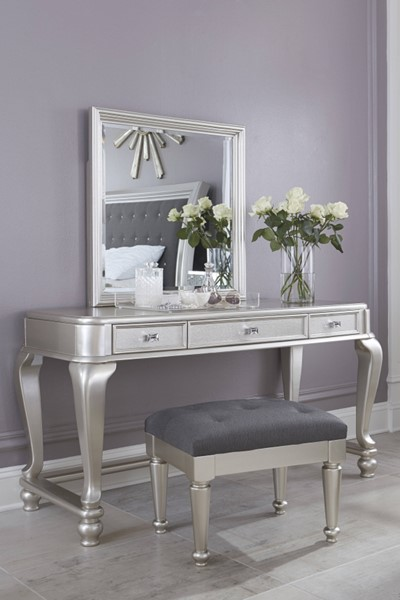 Ashley Furniture Coralayne Silver Vanity Set With Stool The Classy Home