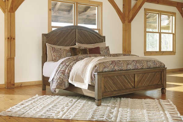 Ashley Furniture Colestad Light Brown Panel Beds B652-PNLBED-VAR
