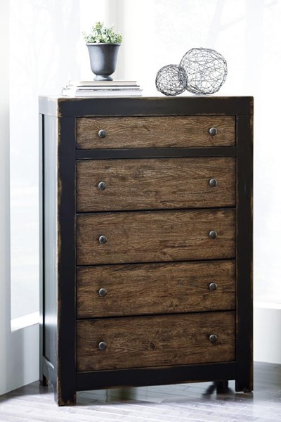 Emerfield Vintage Casual Two tone Five Drawer Chest B653-46