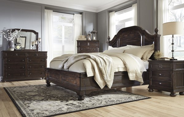 Gerlane Casual Dark Brown Wood 2pc Bedroom Set W/Cal King Bed B657-BR-S6