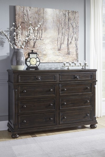 Gerlane Casual Dark Brown Wood Dresser B657-31
