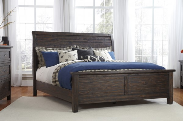 Trudell Casual Golden Brown Panel Beds B658-BEDS