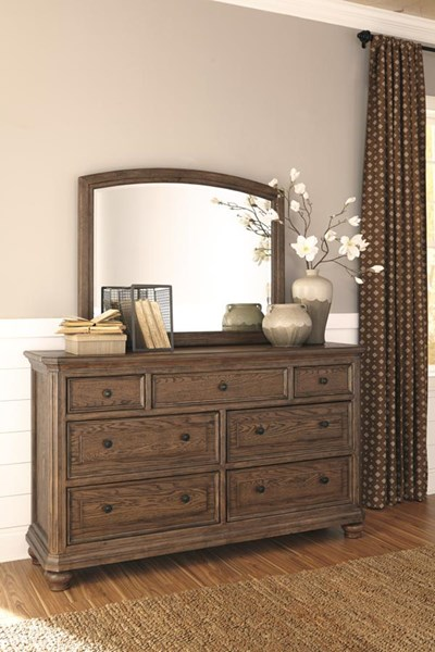 Maeleen Traditional Medium Brown Dresser And Mirror B709-DRMR