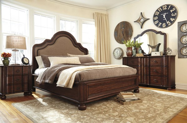 Hadelyn Casual Brown Fabric Solid Wood Master Bedroom Set HADELYN-BR-BNDL