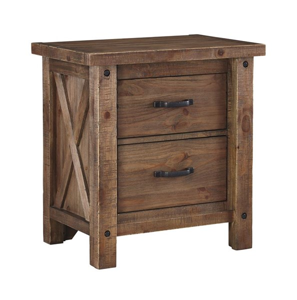 Tamilo Vintage Casual Gray Brown Two Drawer Night Stand B714-92