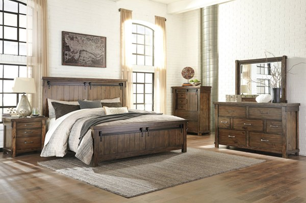 Lakeleigh Casual Brown Solid Hardwood Master Bedroom Set B718-BR