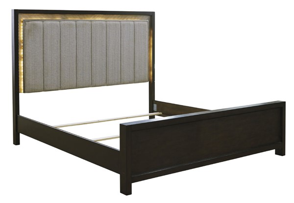 Ashley Furniture Maretto Two Tone Upholstered Panel Beds B724-UPNL-BED-VAR