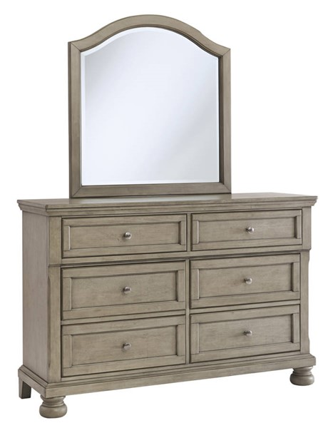 Ashley Furniture Lettner Light Gray Kids Dresser And Mirror B733-KIDS-DRMR