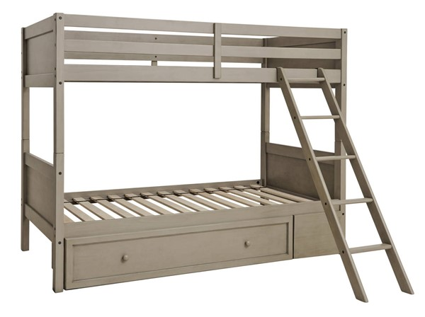 Ashley Furniture Lettner Light Gray Trundle Bunk Beds B733-TR-BB-VAR