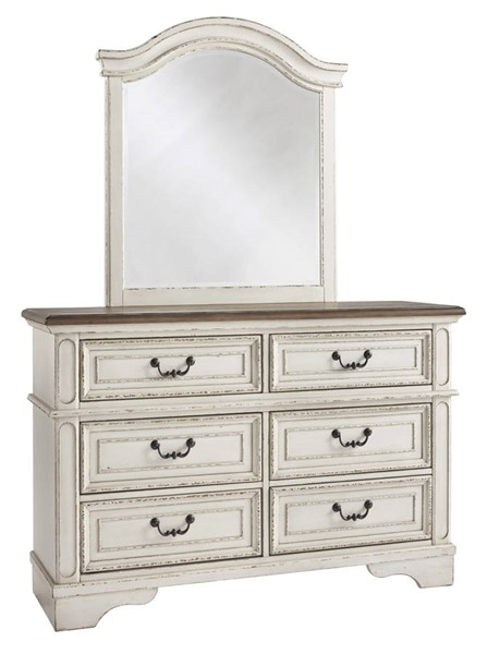 Ashley Furniture Realyn Chipped White Youth Dresser And Mirror B743-21-26-YDRMR