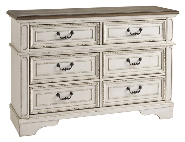 Ashley Furniture Realyn Chipped White Youth Dresser B743-21