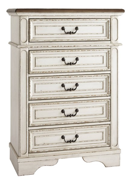 Ashley Furniture Realyn Chipped White Chest B743-45