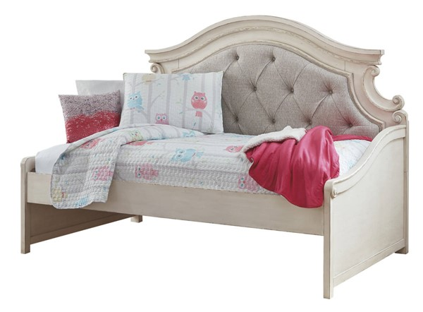 Ashley Furniture Realyn Chipped White Twin Day Bed The Classy Home