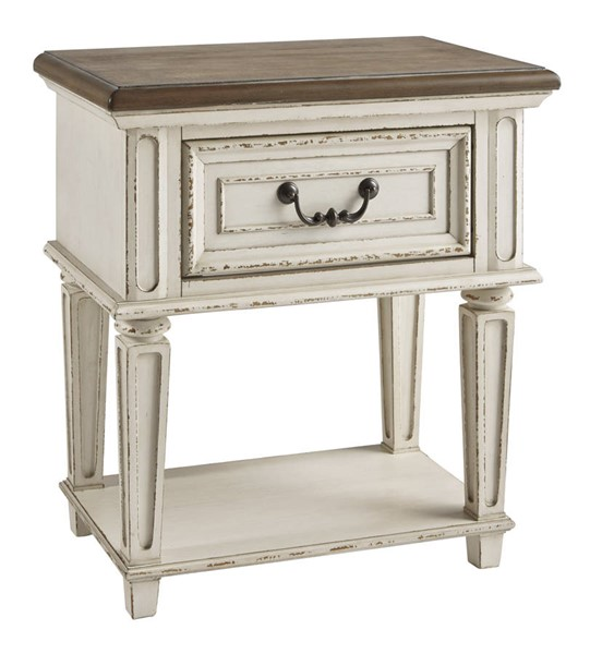 Ashley Furniture Realyn Chipped White One Drawer Night Stand B743-91