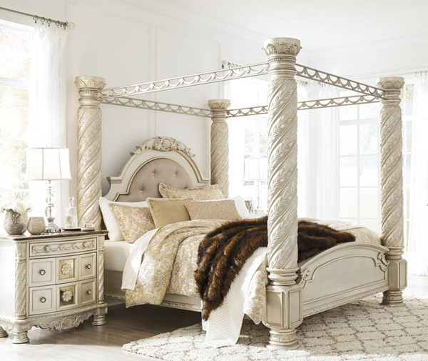 Ashley Furniture Cassimore 2pc Bedroom Set With King Poster Canopy Bed The Classy Home