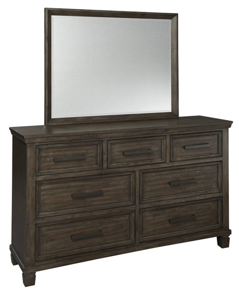 Ashley Furniture Johurst Grayish Brown Dresser And Mirror B762-DRMR