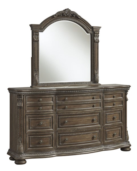Ashley Furniture Charmond Brown Dresser And Mirror B803-DRMR