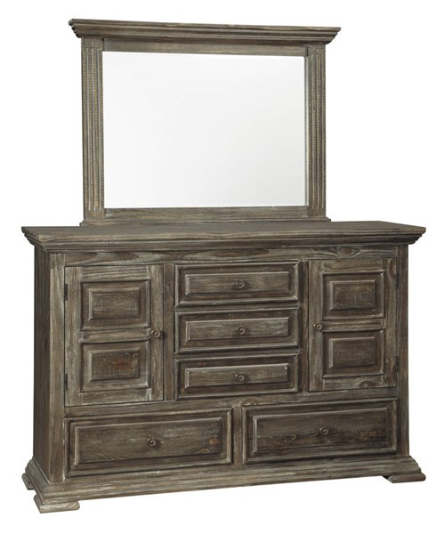 Ashley Furniture Wyndahl Rustic Brown Dresser And Mirror B813-DRMR