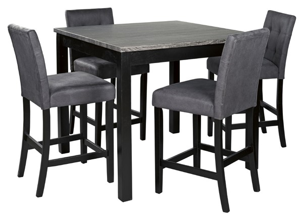 Ashley Furniture Garvine Two Tone Square 5pc Counter Height Set D161-223