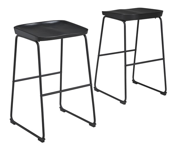 2 Ashley Furniture Showdell Black Tall Barstools D205-130