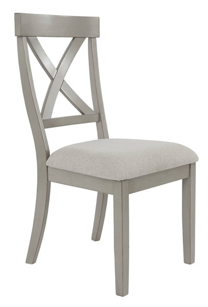 2 Ashley Furniture Parellen Gray Upholstered Dining Side Chairs D291-01