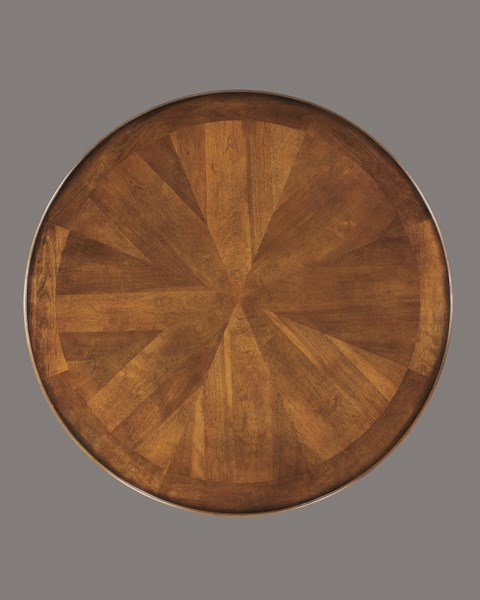 Plentywood Traditional Brown Wood Round Dining Table Top D313-15T