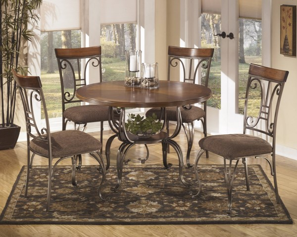 Plentywood Traditional Brown Wood 5pc Dining Room Set D313-S