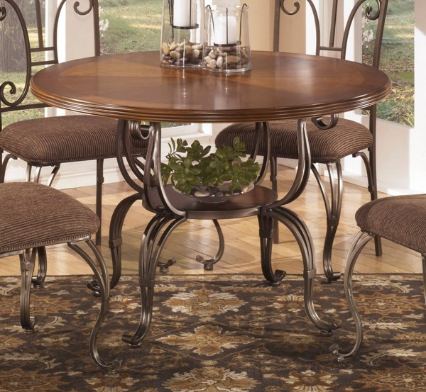 Plentywood Brown Round Dining Table Base D313-15B