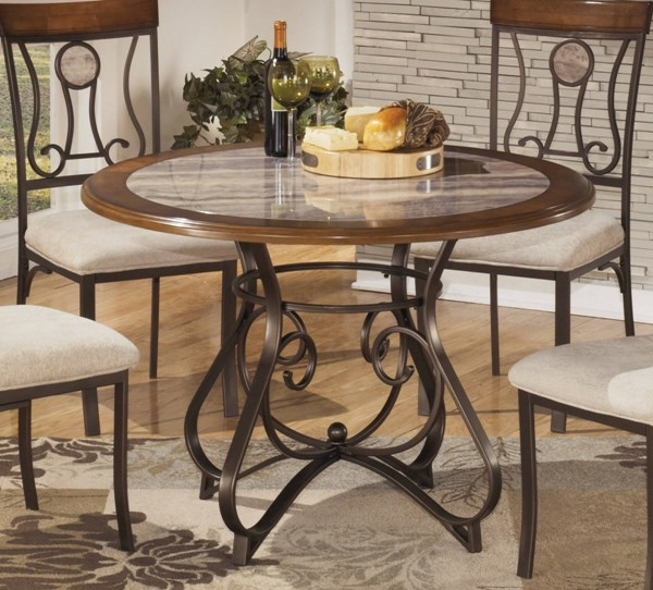 Hopstand Traditional Brown Wood Round Dining Table D314-15