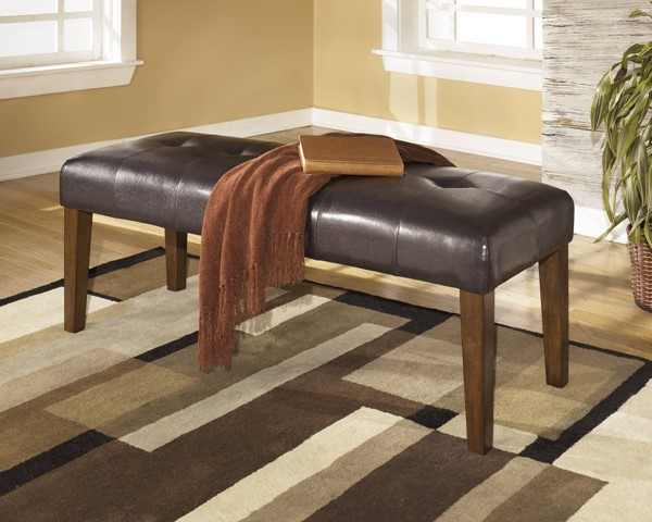 Lacey Medium Brown Wood Large Upholstered Dining Room Bench D328-00