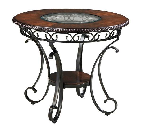 Ashley Furniture Glambrey Brown Round Counter Table D329-13