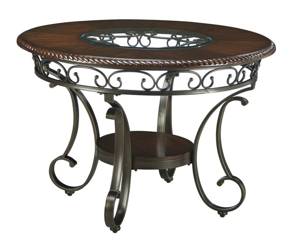 Ashley Furniture Glambrey Brown Round Dinette Table D329-15