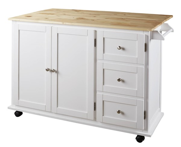 Ashley Furniture Withurst White Kitchen Cart D350-486