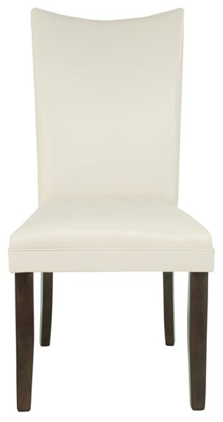 2 Ashley Furniture Charrell Ivory Upholstered Dining Side Chairs D357-02
