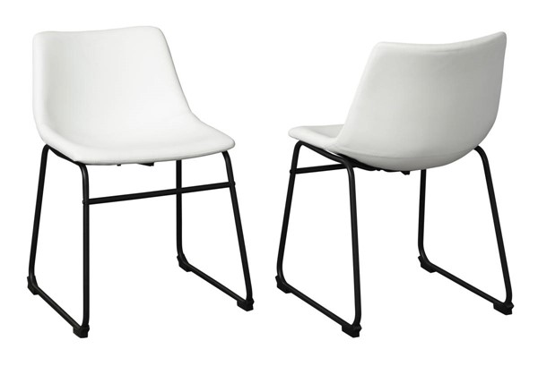 2 Ashley Furniture Centiar White Dining Side Chairs D372-07