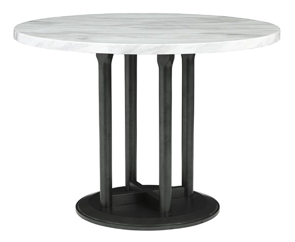 Ashley Furniture Centiar Two Tone Black Round Dining Table D372-14