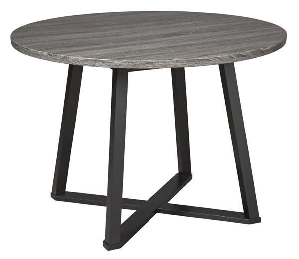 Ashley Furniture Centiar Gray Black Round Dining Table D372-16