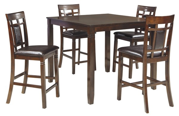 Ashley Furniture Bennox Brown 5pc Counter Table Set D384-223