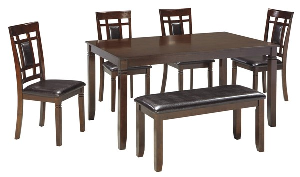 Ashley Furniture Bennox Brown 6pc Dining Room Table Set D384-325