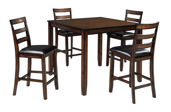 Ashley Furniture Coviar Brown 5pc Counter Table Set D385-223