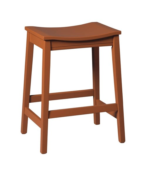 2 Bantilly Vintage Casual Red Wood Stools D389-0424