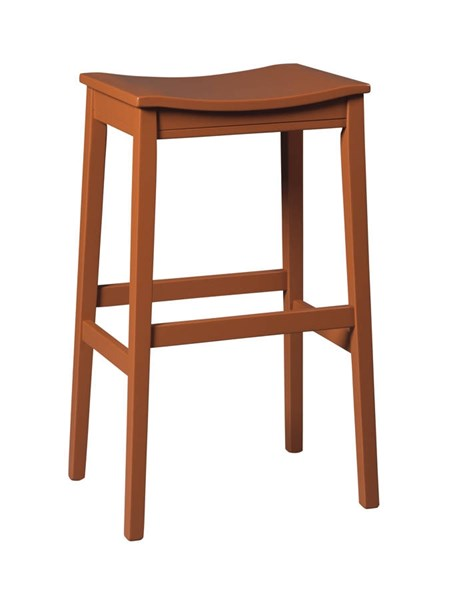 2 Bantilly Vintage Casual Red Wood Tall Stools D389-0430
