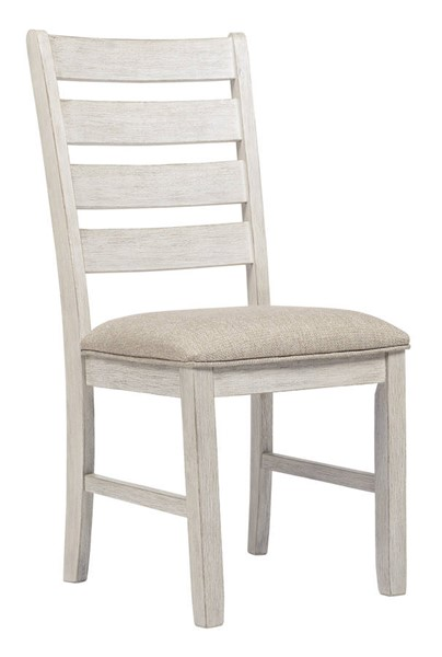 2 Ashley Furniture Skempton White Light Brown Dining Side Chairs D394-01