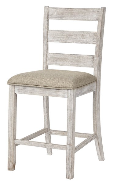 2 Ashley Furniture Skempton Grayish White Bar Stools D394-124