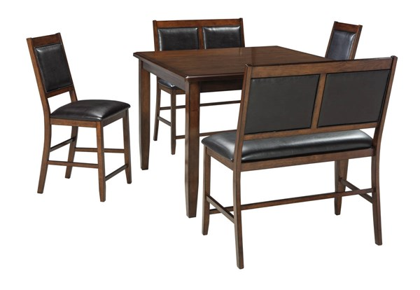 Ashley Furniture Meredy Brown 5pc Counter Table Set D395-323
