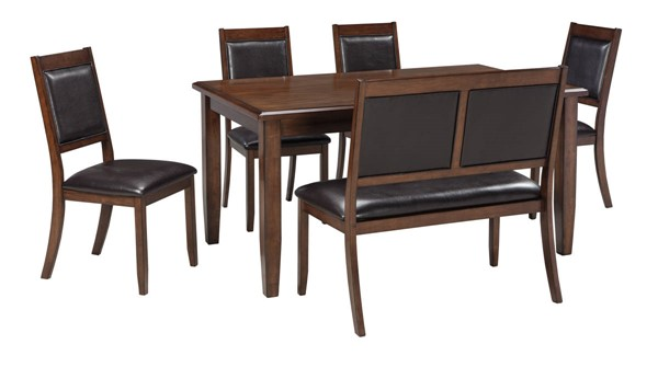 Ashley Furniture Meredy Brown 6pc Dining Room Set D395-325