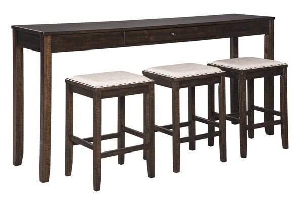 Ashley Furniture Rokane Brown 4pc Counter Height Set D397-223