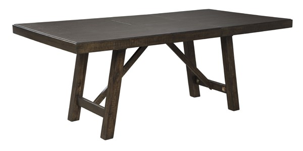 Ashley Furniture Rokane Brown Rectangle Extension Dining Table D397-35