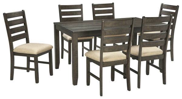 Ashley Furniture Rokane Brown 7pc Dining Room Table Set D397-425