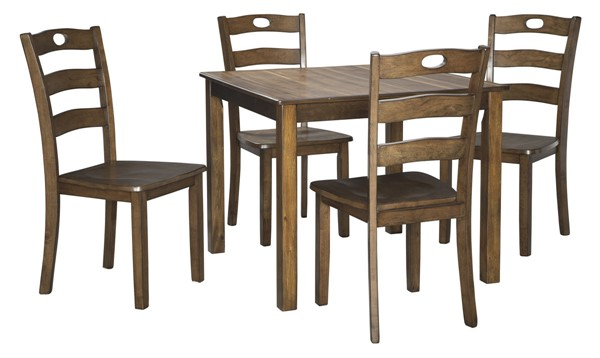Ashley Furniture Hazelteen Brown 5pc Square Dining Set D419-225